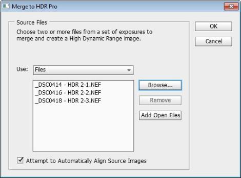 4 Merge HDR Pro