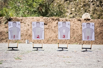 Paper targets designed by Team Spartan Tactical Training's John Krupa III and printed by Law Enforcement Targets