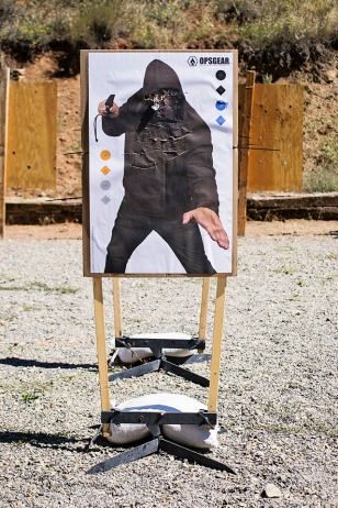 An OpsGear paper target on the PT Hold at Action Target's 2014 Law Enforcement Training Camp