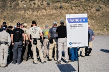 Several attendees participated in the Sgt. Cory Wride Memorial Match at Action Target's 2014 Law Enforcement Training Camp